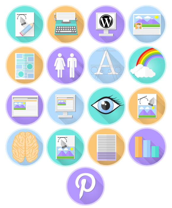 Flat Icons for EQ Website and Promotional Material