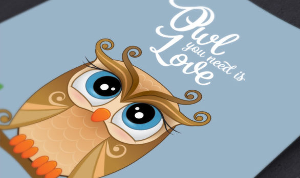Owl You Need is Love Print: Instant Download